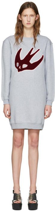 McQ Grey Varsity Swallow Dress