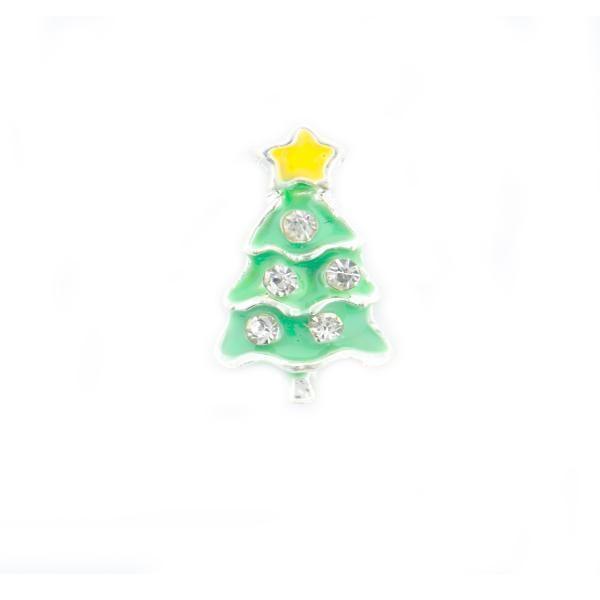 Ornamente unghii metalice 3D Decor Iarna - Pom de Craciun