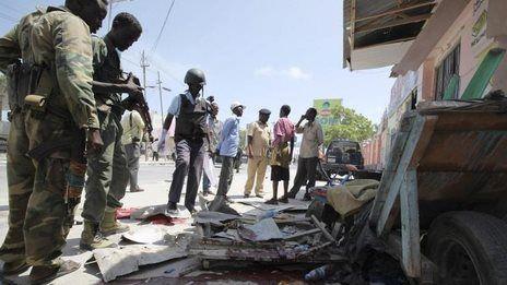 Somalia unrest: Deadly blast in Mogadishu  http://www.bbc.com/news/world-africa-27268938