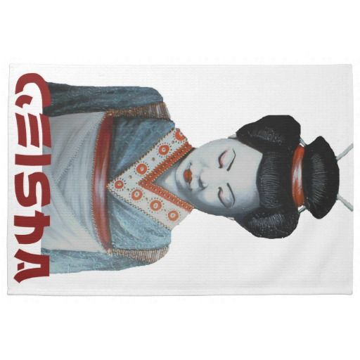 Geisha Dish Towel #kitchenstuff #geisha