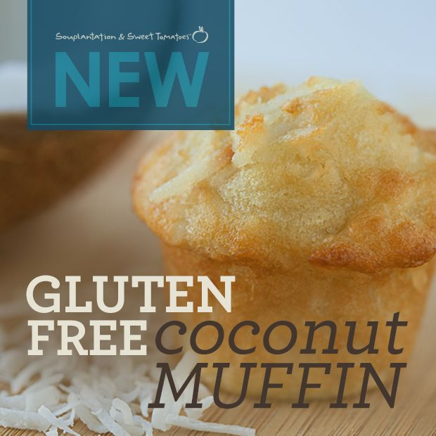 The new Gluten-Free Coconut Muffin at Souplantation/Sweet Tomatoes.