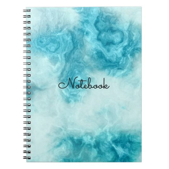 """Beautiful blue Marble texture and pattern personalize Notebook,  available on zazzle.com for ($13.30), Organize your day with a custom notebook! Made with your images and text on the front cover, this notebook is a great way to show off your personal style and keep track of all important notes and appointments all at once.  Specifications -   - Dimensions: 6.5"""" x 8.75"""" - Cover printed in vibrant, sharp    color - 80 black & white lined pages - Lay flat spiral binding"""