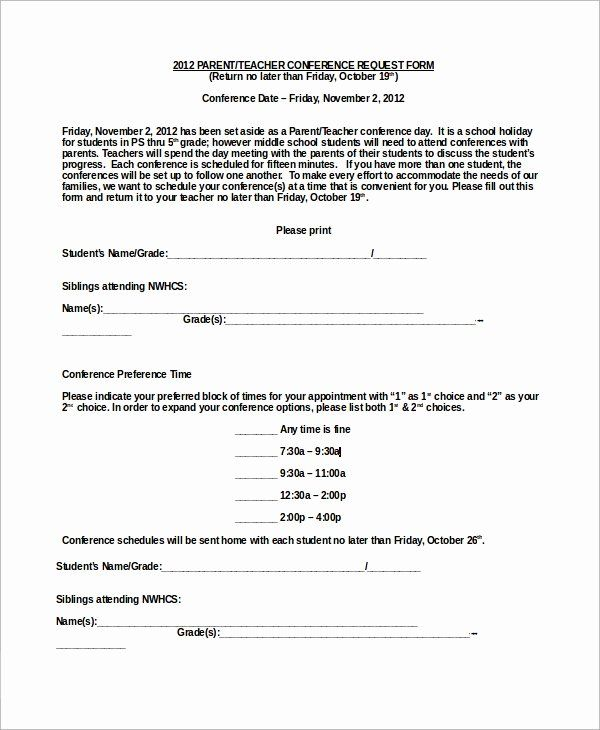 Parent Teacher Conference Forms Awesome Sample Parent Teacher Conference Form 9 Parent Teacher Conference Forms Parent Teacher Conferences Teacher Conferences