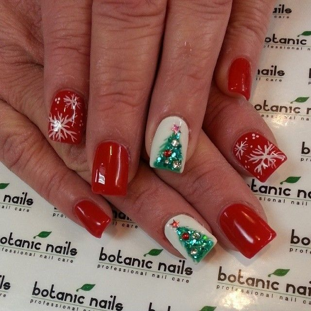 Attractive Christmas Tree Nail Designs 2016 - Best 25+ Christmas Tree Nails Ideas On Pinterest Xmas Nails