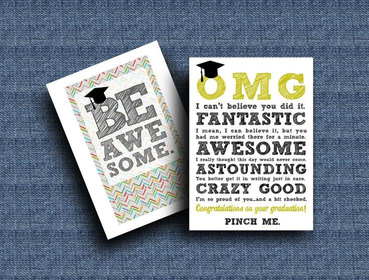 Diy printable graduation cardsomg be awesome