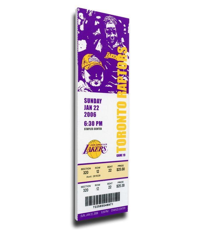 Los Angeles Lakers Wall Art - Kobe Bryant 81 Point Game Canvas Mega Ticket