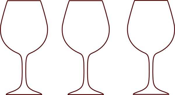 Champagne Bottle Outline | Wine Glass Silhouettes clip art - vector ...