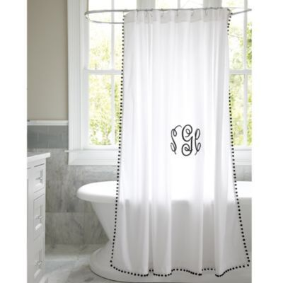 Designed to mix and match with our Amelie Bath Collection and Bedding, the gray shower curtain is sewn of 240-thread count white cotton.