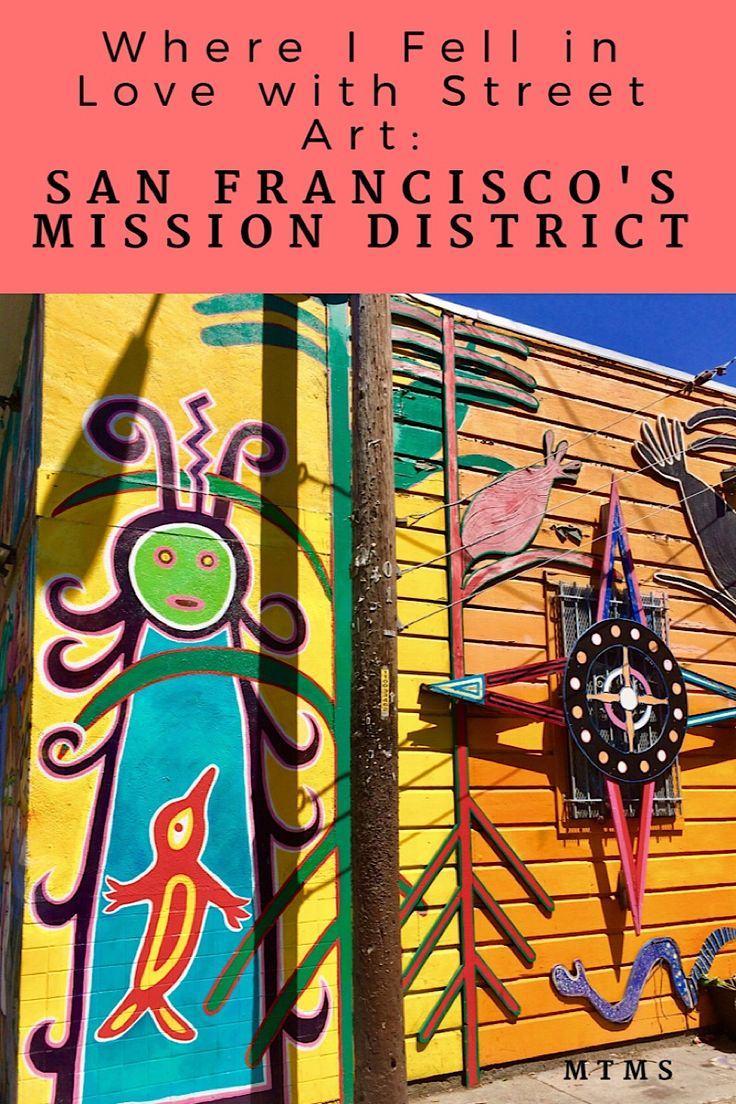 The Mission District: Where I Fell in Love with Street Art. Tips on things to do and where to see wall murals in San Francisco California. US Travel.