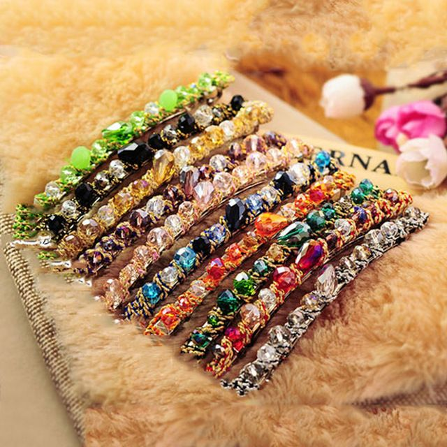 12pcs/lot Invisibobble hairpins for hair women Crystal Barrettes For Women Elegant Hair Accessories for women 6250A