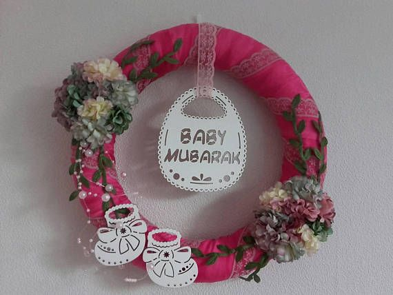 Check out this item in my Etsy shop https://www.etsy.com/listing/570661669/baby-mubarak-wreathaqiqah-giftbaby