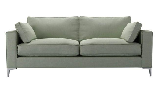 Salute 3-seater sofa in Duck Egg Belgium linen