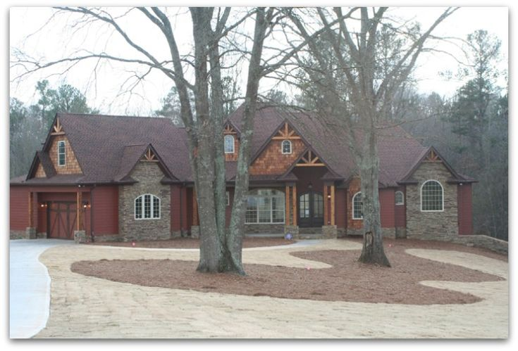 exterior of custome homes with front porches | Ranch Style Homes – a rustic ranch house wisconsin style