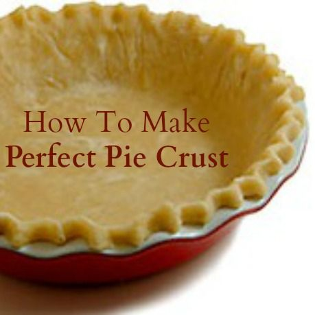 How to make perfect pie crust. There are more than one type of pie crust that different bakers will swear by to make the perfect crust. Here are a few to try.