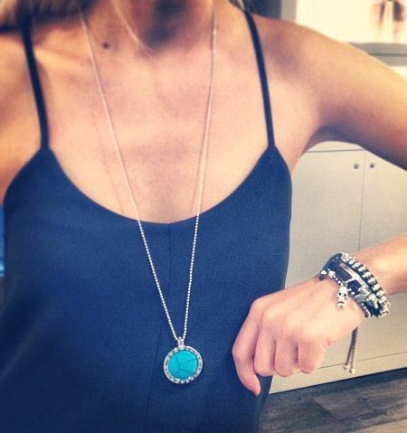 """Emozioni coin #necklace by Hot Diamonds. 33mm holderw tih turquoise coin, on 35"""" chain. #beautiful #InspiredBy"""