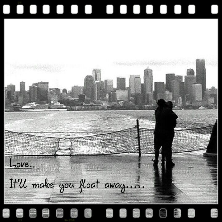 Love meme. Seattle horizon from the auto deck of the ferry as we floated away.