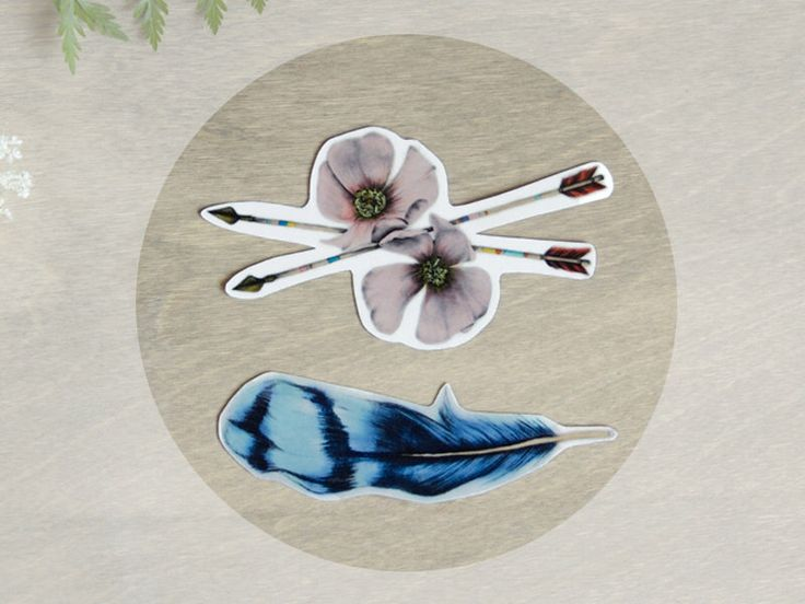 Temporary Tattoo Bluejay Feather and Wild Roses (Includes 2 Tattoos) by BurrowingHome on Etsy https://www.etsy.com/se-en/listing/157035331/temporary-tattoo-bluejay-feather-and