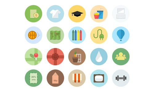 40 Beautiful Flat Icon Sets For Web UI Design | Icons | Graphic Design Junction