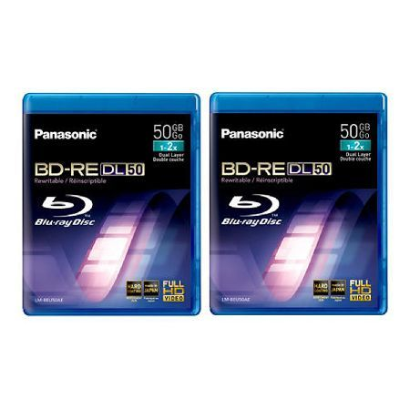 Panasonic LMBRU50AE2 This is a 2 pack speed recordable Blu-Ray disc. It is ideally suited for high-definition image which will record roughly 9 hours of broadcasts in full-HD quality. . The Blu Ray discs use inorganic rec http://www.MightGet.com/february-2017-3/panasonic-lmbru50ae2.asp