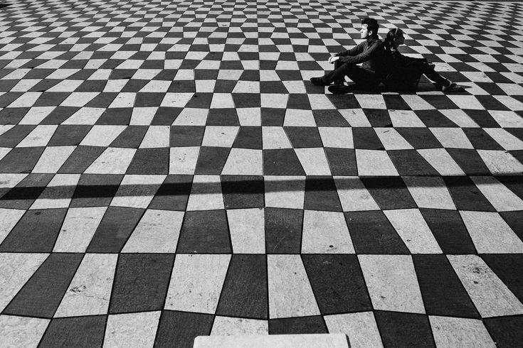 Black & White patterns portrait