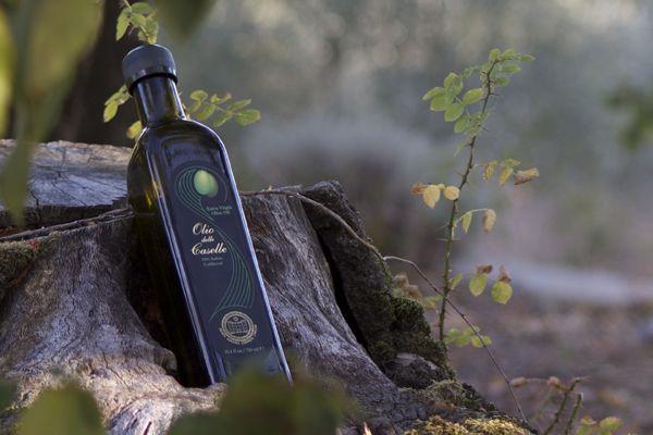 Olio delle Caselle, olive oil label