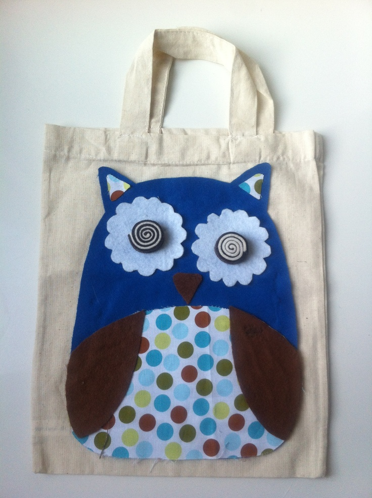 Small kid bag - felt & fabric
