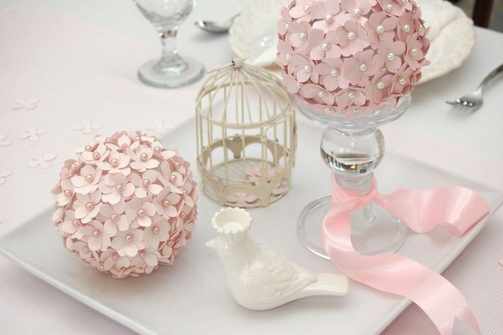The most perfectly pink, little bird, girl baby shower in my book!: Shower Ideas, Paper Flowers Ball, Wedding Shower, Floral Decor, Paper Punch, Centerpieces, Diy, Baby Shower