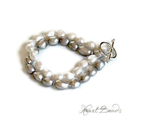 Knotted douple strand freshwater pearl by HeartBeads. https://www.facebook.com/heartbeadsjewellery