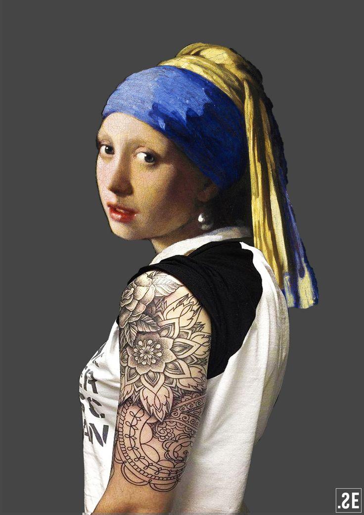 Het meisje met de parel  modern.