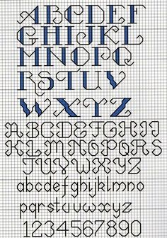 Cross stitch letter pattern