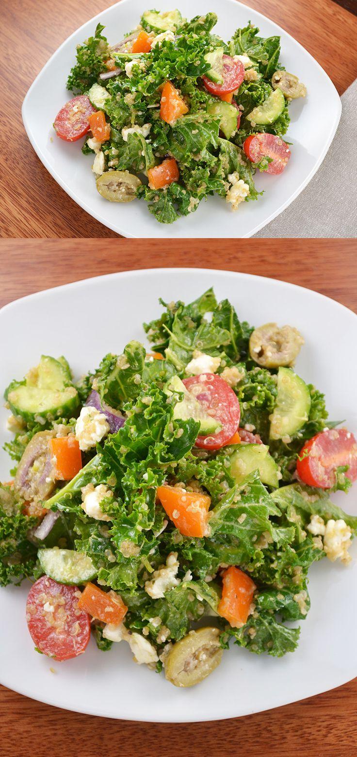 greek kale salad mediterranean dishes salad bar kale salads tossed ...