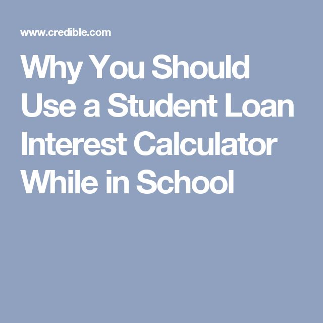 Why You Should Use a Student Loan Interest Calculator While in School