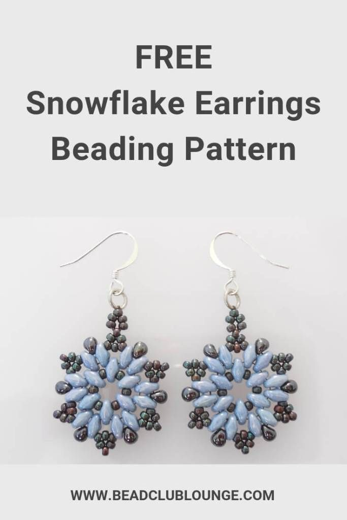 How To Make Beaded Christmas Earrings Easy Snowflake Pattern
