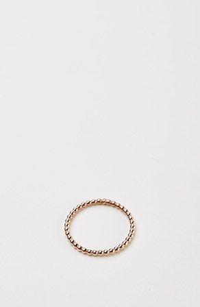 """Jane Kønig   Kleiner Kugelring """"Simple Ball Ring"""" aus rosévergoldetem Silber"""