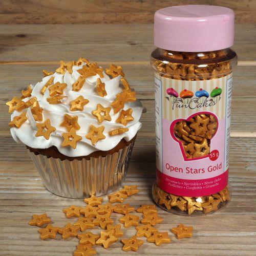 Confeti comestible con forma de estrellas doradas, ideal para decorar tartas, cupcakes, galletas y pasteles navideños #navidad #decoracionnavidad #ideasnavidad #bolsasnavidad #reposterianavidad #cupcakesdenavidad #tartasdenavidad #reposterianavideña #xmascakes #christmascakes #xmascupcakes #christmascupcakes