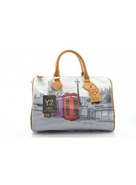 Carla Mosse Creations Y Not? Phone Booth Print Leather Bag. Buy @ http://thehubmarketplace.com/BAG-NEW%20PHONE