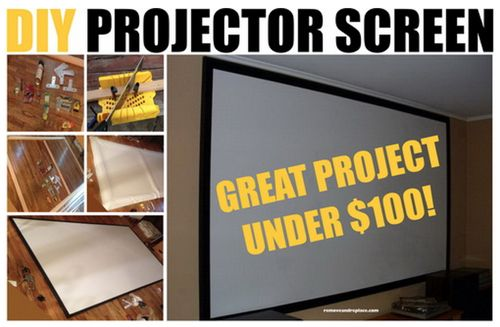 How To Make A Home Projector Screen For Under $100...http://homestead-and-survival.com/how-to-make-a-home-projector-screen-for-under-100/