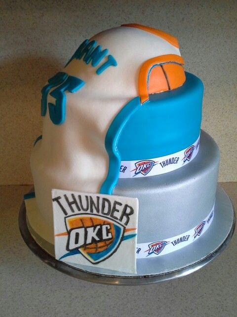 Okc Thunder Cake Cakes Pinterest Cakes Thunder And
