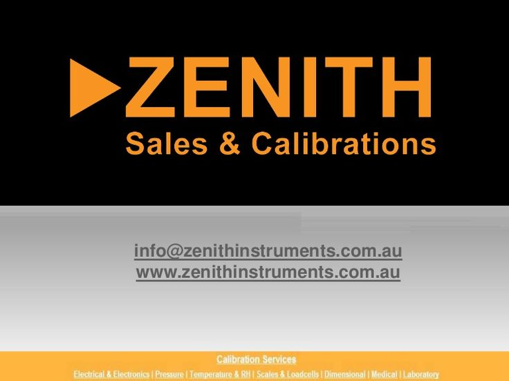 Zenith is an authorized distributor of Test and Measurement instruments of highly renowned brands Nagman Instruments and Micro Process Controls. Contacts: Zenith Sales & Calibrations Pty Ltd, Unit 22, 9 Salisbury Rd, Castle Hill, NSW 2154 Ph:02 9680 8765. http://www.slideshare.net/ZenithSales/zenith-sales-calibrations-pty-ltd-calibrations-products-service