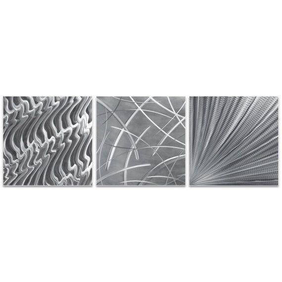 Metal Artwork 'Countless v2 Triptych' by Nicholas Yust