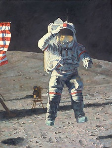 John Young Leaps into History - Alan Bean - World-Wide-Art.com - $295.00