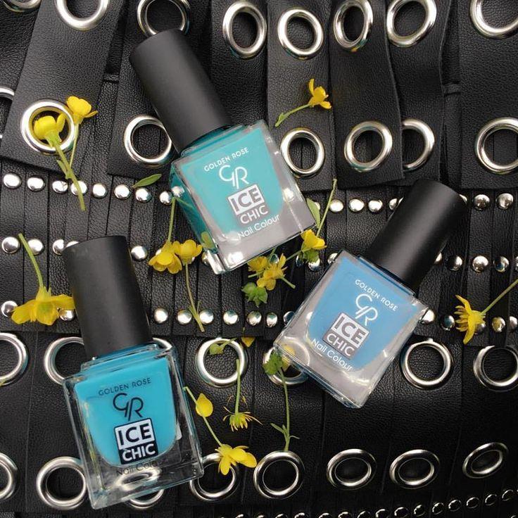 Mavinin tüm tonlarını tırnaklarınıza taşıyoruz…  •Ice Chis Nail Colour 93 - 95 - 92 http://www.goldenrosestore.com.tr/ice-chic-nail-color.html
