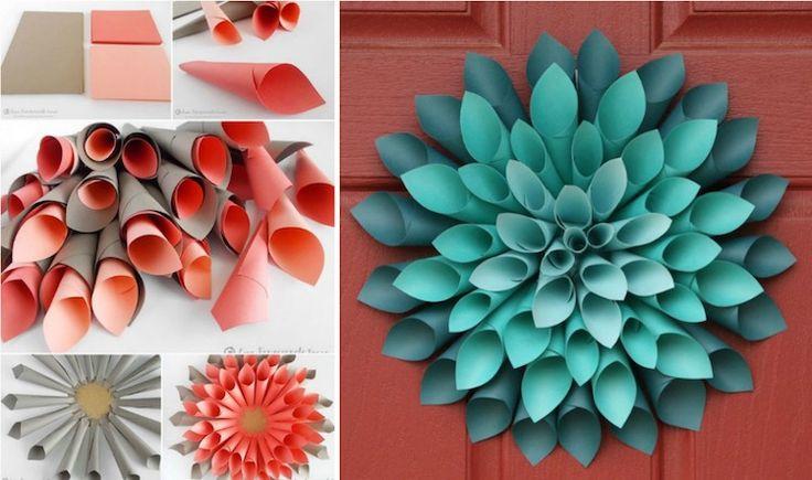 Fleur en papier facile à faire - 10 idées et tutoriels | Fleur en papier facile, Fleurs en ...
