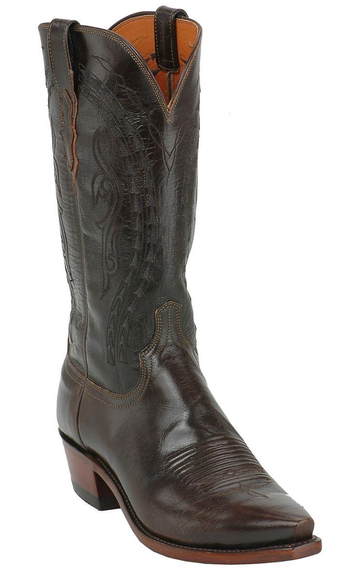 Lucchese 1883 Men's Teak Buffalo Calf Snip Toe Western Boot   Cavender's