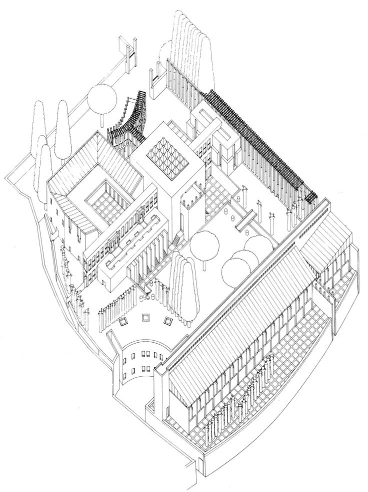 OSWALD MATHIAS UNGERS GERMAN EMBASSY TO THE VATICAN (PROJECT), 1965