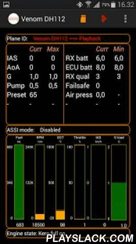 RATS IGS - R/C Telemetry  Android App - playslack.com , An application that receives data from the airborne system in a model R/C plane. The airborne system consists typically of:1) One or two (dual engine setups) ASSI units. Measures engine (turbine) data, airspeed and G force. Interfaces to your RC receiver (Futaba SBUS or SBUS2, JR XBus or Spektrum SRXL (X-Plus))2) CAN-GPS module. CAN-GPS delivers GPS positions and height (Altimeter) information 4 times pr second3) CAN-RF module (incl…