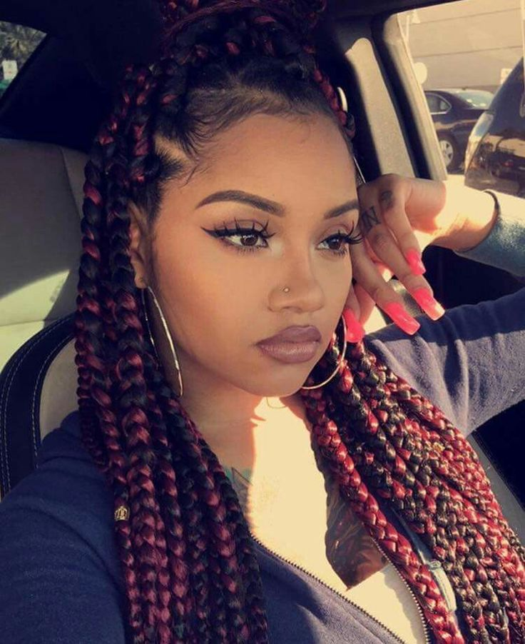 Peachy 17 Best Ideas About Colored Box Braids On Pinterest Grey Box Hairstyles For Women Draintrainus