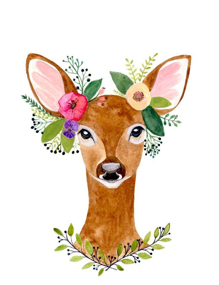 Deer Print, Deer Antler, Woodland Decor, Wall Art,Woodland nursery, Animal Print, Printable Art, Woodland animals, watercolor by zuhalkanar on Etsy https://www.etsy.com/listing/273015334/deer-print-deer-antler-woodland-decor