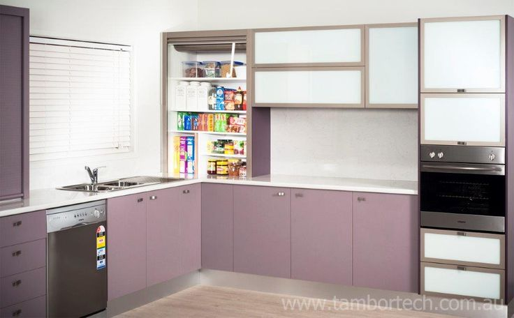Tambortech Door Benchtop Pantry Cupboard - kitchen pantry organisation solution. Not roller doors or roller shutters... these are actually Tambortech Doors.