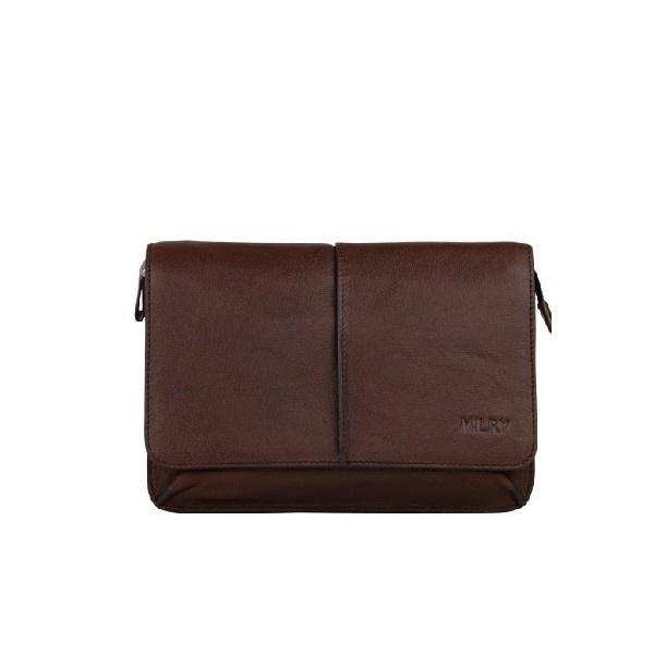Brown Designer top Leather Pochette Wrist Bag For Men - Men Bags - handbag shop
